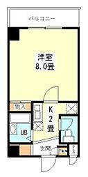 新堂フラット[5階]の間取り