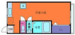 兵庫県神戸市灘区中原通1丁目の賃貸マンションの間取り