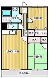 ポートサイドII[303号室]の間取り