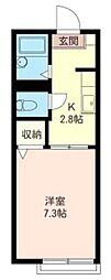 埼玉県富士見市大字鶴馬の賃貸アパートの間取り