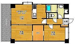 プレジール姪浜[403号室]の間取り