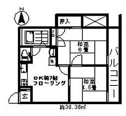 脇アパート[203号室]の間取り