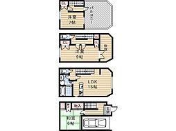 [一戸建] 大阪府大阪市住吉区我孫子2丁目 の賃貸【/】の間取り