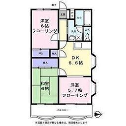 東京都立川市西砂町5丁目の賃貸マンションの間取り