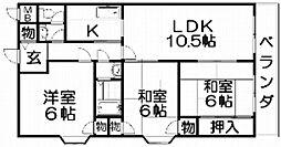 カラジュームマンション[3階]の間取り