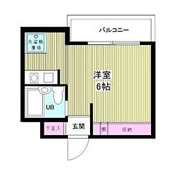 プラティーク笹塚[4階]の間取り