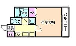 MANSION萬VI[3階]の間取り
