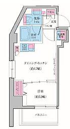 東急池上線 雪が谷大塚駅 徒歩3分の賃貸マンション 9階1DKの間取り