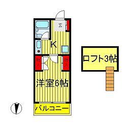 メゾンアサノ[1階]の間取り