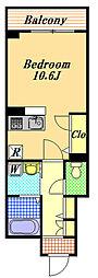 (仮)海楽1丁目ベレオ[2階]の間取り