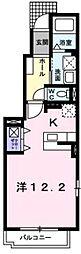 ジェルメ千本杉II[1階]の間取り