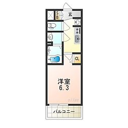 Osaka Metro谷町線 天王寺駅 徒歩8分の賃貸マンション 5階1Kの間取り