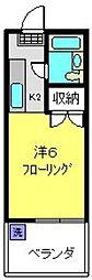 神奈川県横浜市磯子区中浜町の賃貸マンションの間取り