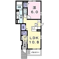 神奈川県綾瀬市綾西3丁目の賃貸アパートの間取り