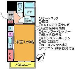 千葉県船橋市本町2丁目の賃貸マンションの間取り