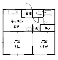 琉久屋荘[101号室]の間取り