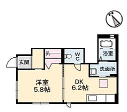 RAINBOW B[1階]の間取り