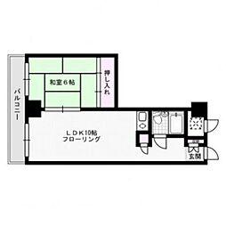 福岡県福岡市中央区渡辺通2丁目の賃貸マンションの間取り