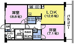 東京都練馬区中村北2丁目の賃貸マンションの間取り