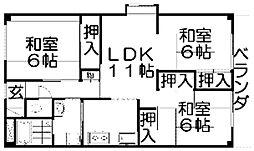 香里園ヒルズ[4階]の間取り