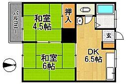 上野アパート[101号室]の間取り