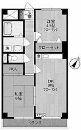 エクセル稲田[2階]の間取り
