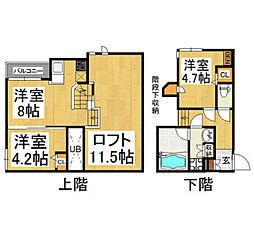 CB賀茂ポルテ1[1階]の間取り