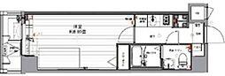 グランパークN.東京 5階1Kの間取り