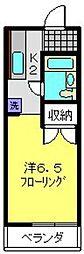 加藤ハイツ[102号室]の間取り