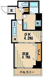 (仮称)溝口一丁目マンション 4階1DKの間取り