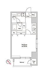 オリーブマンション荒川[4階]の間取り
