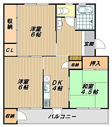 鈴谷住宅1号棟[4階]の間取り