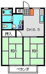 サンヴィレッジA棟[1階]の間取り