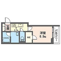 仮)豊島区巣鴨3丁目シャーメゾン 2階1Kの間取り