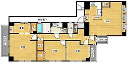 福岡県福岡市城南区鳥飼6丁目の賃貸マンションの間取り