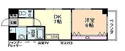 ビエラ江戸堀[4階]の間取り