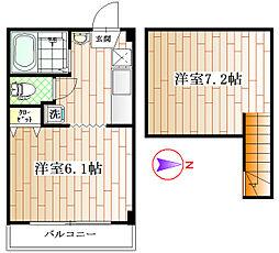 シャトレ上荻[2階]の間取り
