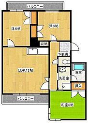 Aマンション[206号室]の間取り