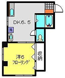 神奈川県横浜市神奈川区西神奈川3丁目の賃貸マンションの間取り