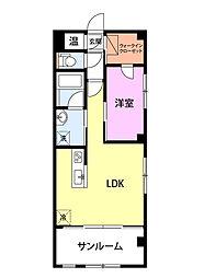 JR上越新幹線 長岡駅 3.5kmの賃貸マンション 4階1LDKの間取り