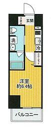 SHOKEN Residence横浜戸部 1階1Kの間取り