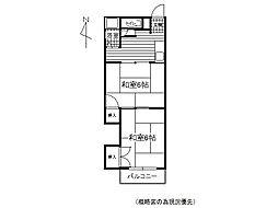 松尾荘 B[6号室]の間取り