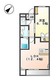 ソワール鎌倉[1階]の間取り