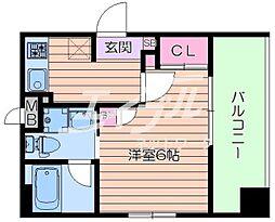 Osaka Metro今里筋線 新森古市駅 徒歩3分の賃貸マンション 4階1Kの間取り
