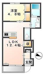 つくばエクスプレス 八潮駅 バス18分 柳之宮下車 徒歩5分の賃貸マンション 1階1LDKの間取り