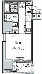 グランディオール広尾テラス 7階1Kの間取り