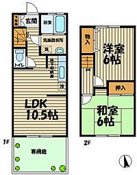 [テラスハウス] 神奈川県鎌倉市台 の賃貸【/】の間取り