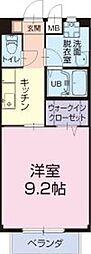 長良川鉄道 加茂野駅 徒歩27分の賃貸アパート 2階1Kの間取り