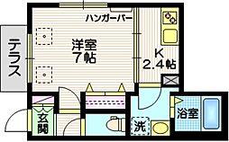 (仮称)仲六郷4丁目メゾン 1階1Kの間取り