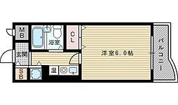 メロディーハイム淡路[5階]の間取り